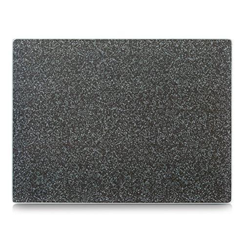 """Zeller 26254 Glasschneideplatte \""""Granit\"""", anthrazit, ca. 40x30 cm"""