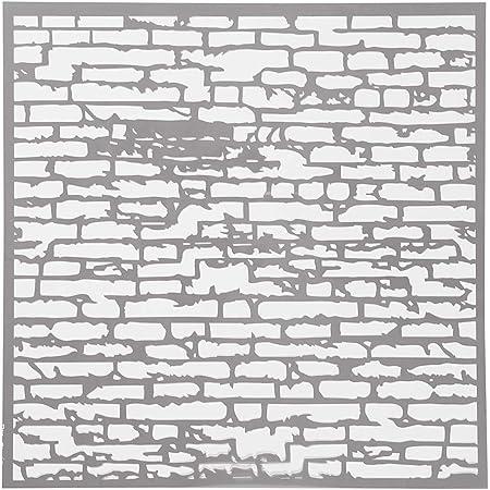 grosor 0,31 mm medidas 30,5x30,5 cm 1hoja pared de ladrillos Plantilla