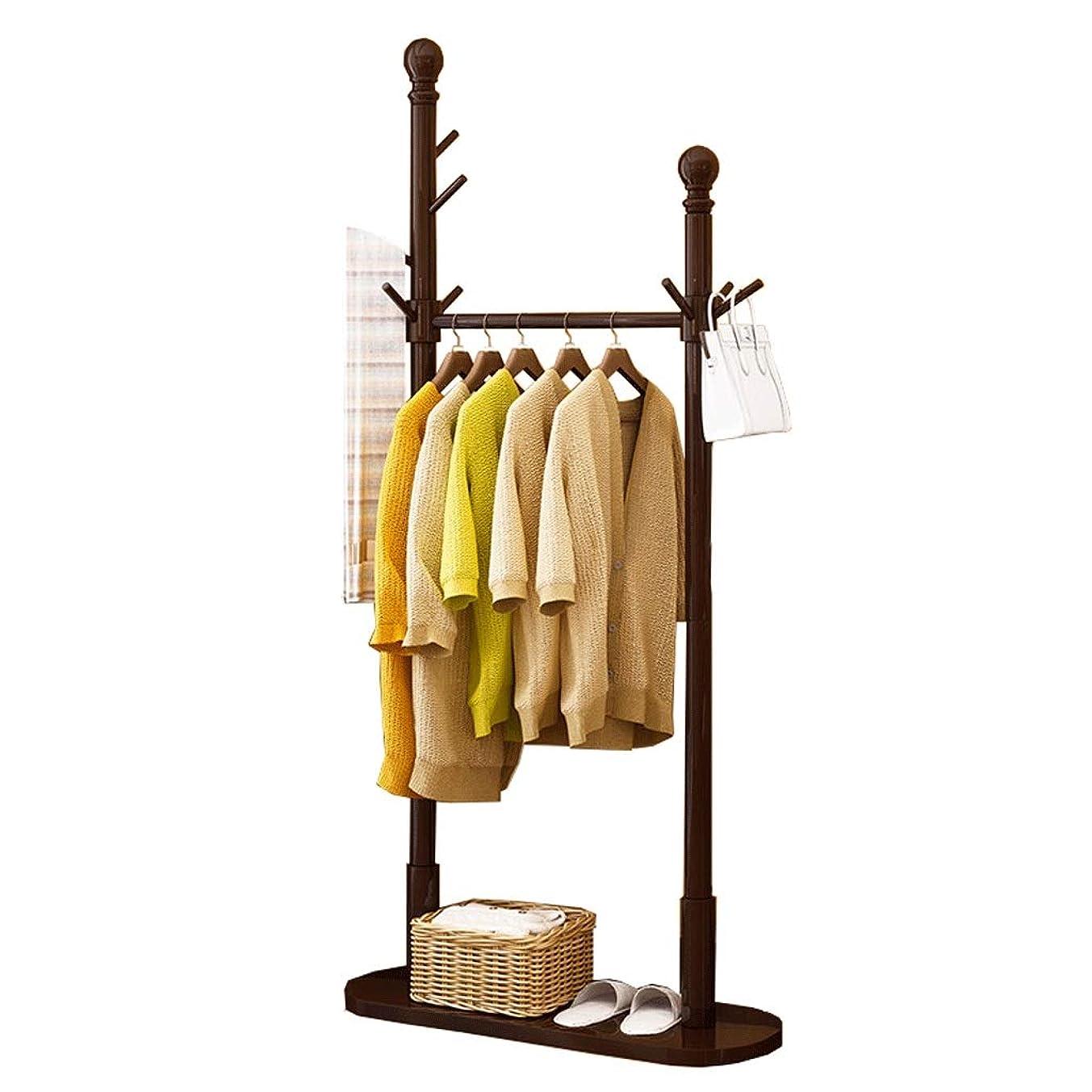 血統居間偽玄関コートラック ヨーロッパスタイルの多機能家庭用収納ラッククリエイティブリビングルームの寝室のコートラック ツリーハンガー (Color : A Brown)
