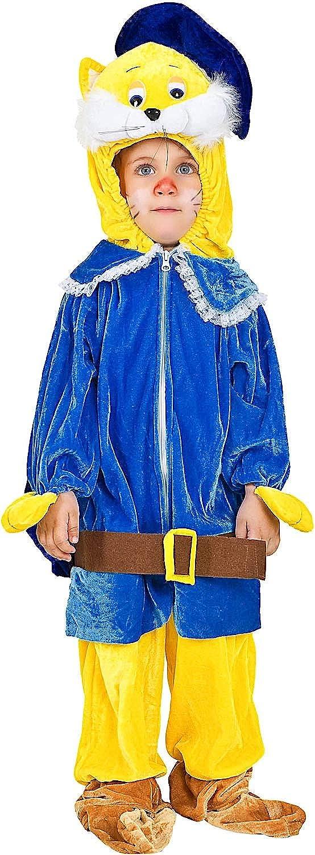 Carnevale Venizano CAV8862-1 - Plüschkostüm Gatto Con GLI Stiefel - Alter  1-4 Jahre - Gre  1