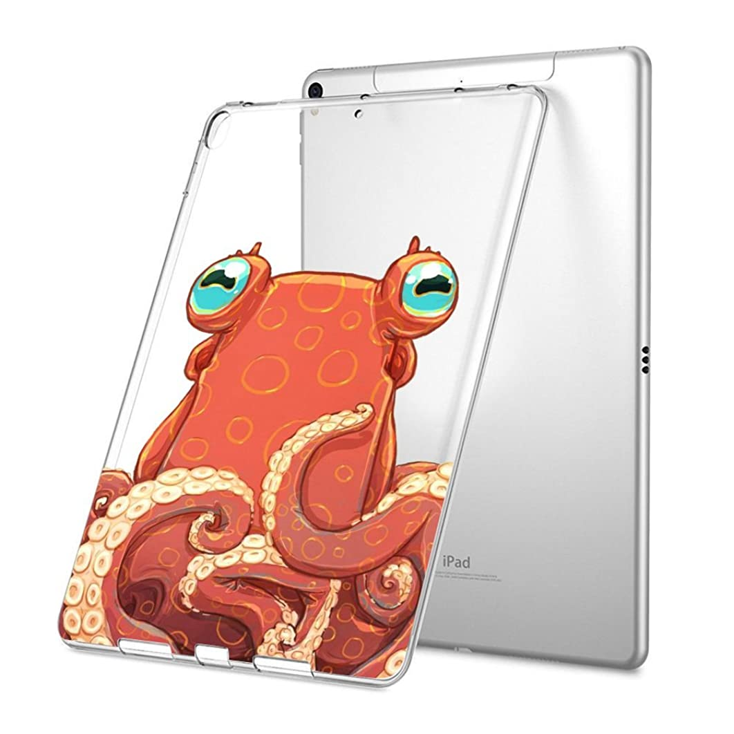GinHo Customized Protective Cover with Slim Soft Durable TPU Ultra-Clear Silicone UV Printing Case for Octopus iPad Pro 12.9 inch 2017/2015