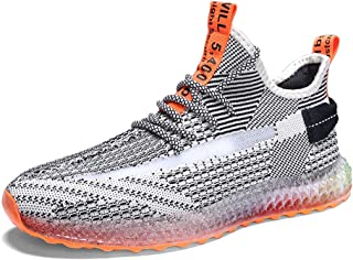 AUCDK Men Fashion Mesh Trainer Casual Breathable Sneakers Men Lightweight Sports Running Shoes