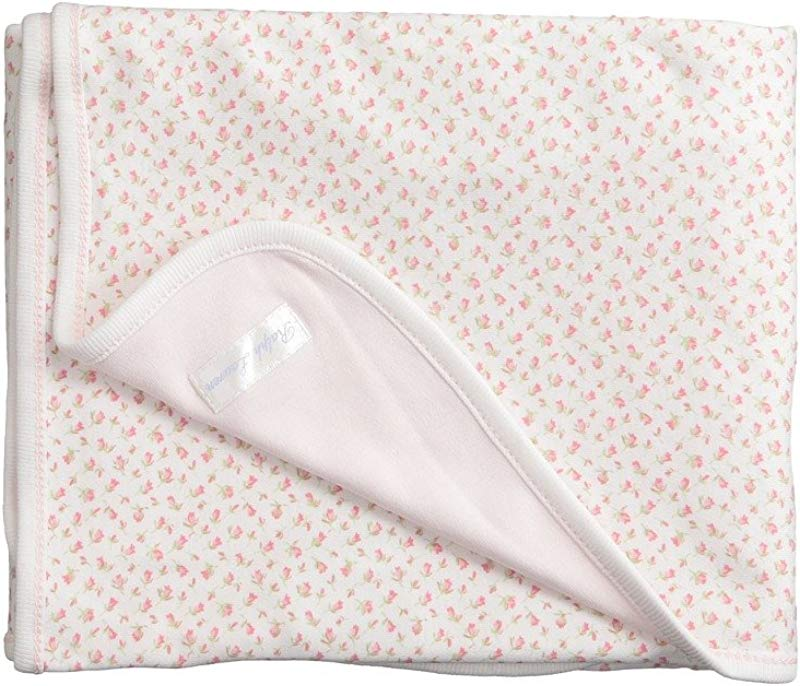 Ralph Lauren Baby Baby Girl S Printed Interlock Floral Blanket Infant White Multi Floral White One Size