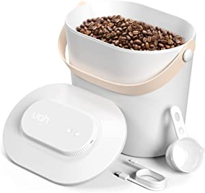 Airtight Vacuum Food Storage Container with lids and Scoop, Intelligent Automatic Sealed Moisture-proof Storage Containers for Cereal, Coffee, Rice, Snacks and Pet Food Container 12LB /13QT