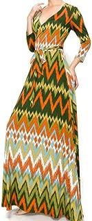 No Static Faux Wrap Maxi Dress