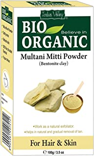Indus Valley Multani Mitti Powder (Indian Healing Clay) for Deep Pore Cleanser & Natural Exfoliator