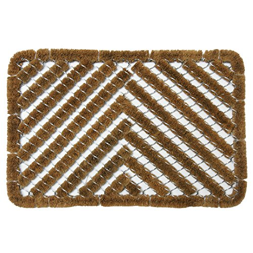 "Rubber-Cal ""Herringbone Outdoor Scraper Door Mat"