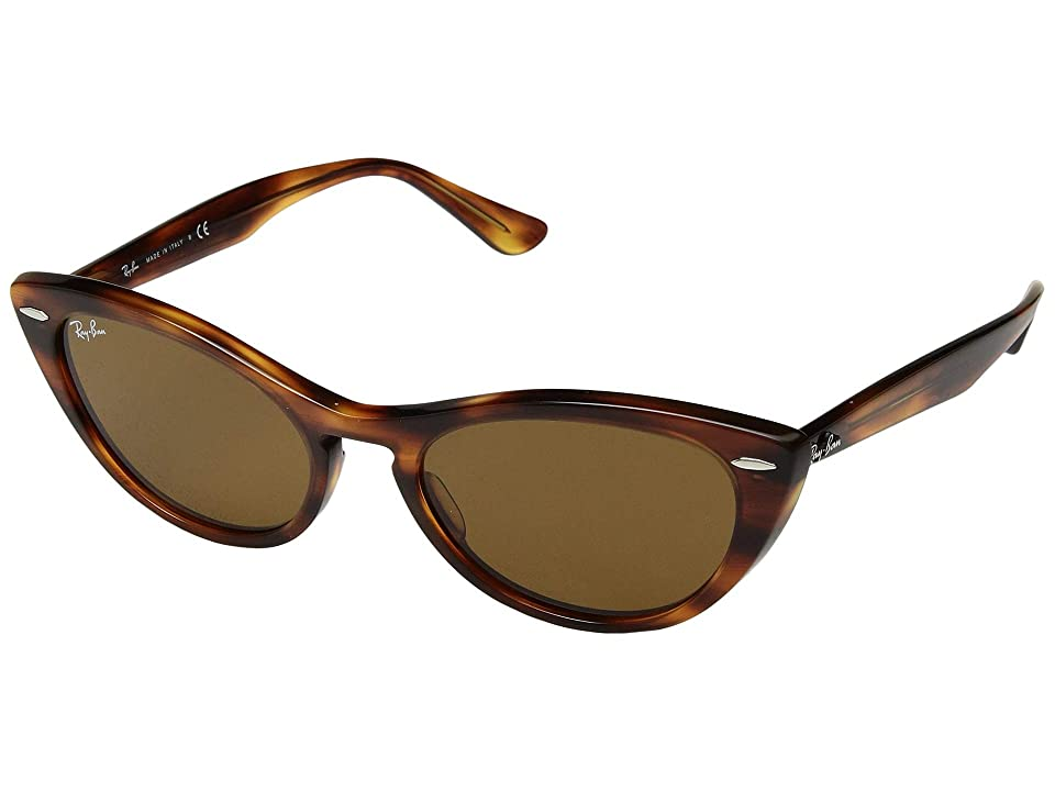1950s Sunglasses & 50s Glasses | Retro Cat Eye Sunglasses Ray-Ban RB4314N 54 mm. BrownBrown Fashion Sunglasses $163.00 AT vintagedancer.com