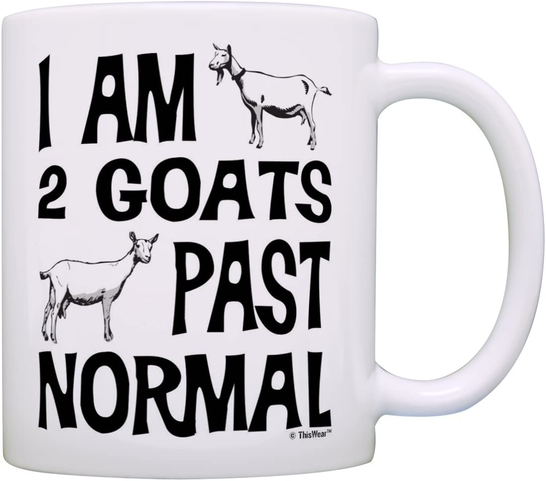Fashionable Goat Farmer Gifts I Am 2 Goats Direct sale of manufacturer G Farm Normal Past Pet Pygmy