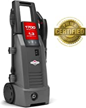 Briggs & Stratton Electric Pressure Washer 1700 PSI 1.3 GPM with 26' High-Pressure Hose, Turbo Nozzle & Detergent Injection