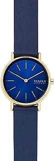 Skagen Signatur Women's Blue Dial Leather Analog Watch - SKW2867
