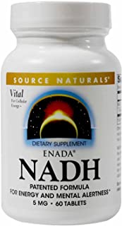 Source Naturals ENADA NADH 5 mg Energy-Rich Coenzyme - 60 Tablets