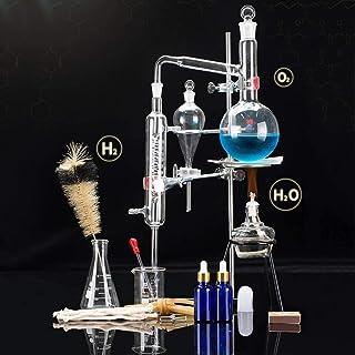 Sucastle Conjunto de Destilación Unidades Alambique destilador de Vidrio de Laboratorio Ciencia 500 Ml