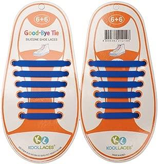 Homeout 1 Set(12pcs) No Tie Silicon Shoelaces - Colorful (Blue, 12pcs/Kids)