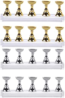 SOLUSTRE 4 Set of Nail Tips Stand Holders Nail Art Practice Base Nail Tip Display Rack DIY Craft Art Practice Stand Accessory