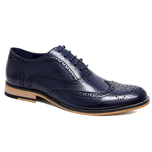 e960ab7303adc Blue Leather Shoes for Man: Amazon.co.uk