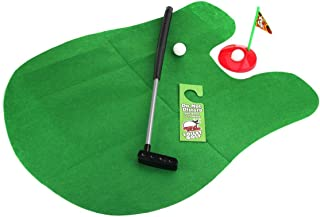 MQ Toilet Golf Game Set for Bathroom - Mini Golf Potty Putter Set Golf Practice Training Funny Toy