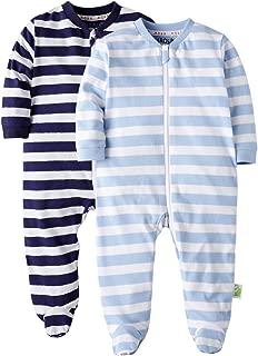 Baby Boys Girls Footed Pajama - Zip Front 100% Cotton Baby Sleeper Sleepwear