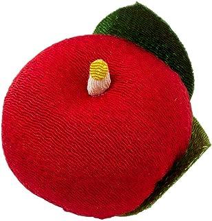 ちりめん和菓子処・香の花甘美赤つばき (KKN-1)まるで和菓子のようなちりめん置物お香入り京都夢み屋Japanese sweet-like ornament