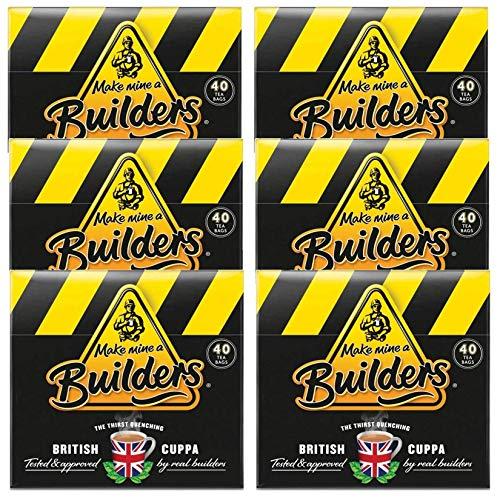 Builders Builders Tea, 40 Count (Pack of 6)