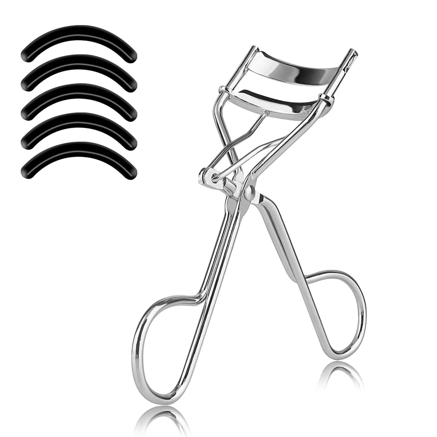National products SFASTER Eyelash Curler with 5PCS Pad OFFicial store Las Curved Silicone Refill