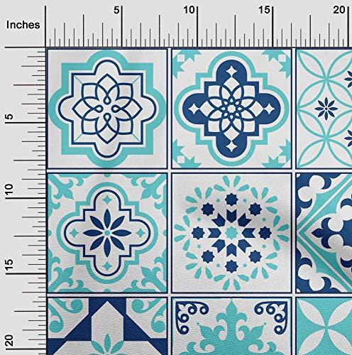 oneOone Flex Algodón Tela florales y azulejos Marroquí Vestir Tela De La Impresión Material De La Tela Por Metros 40 Pulgadas De Ancho