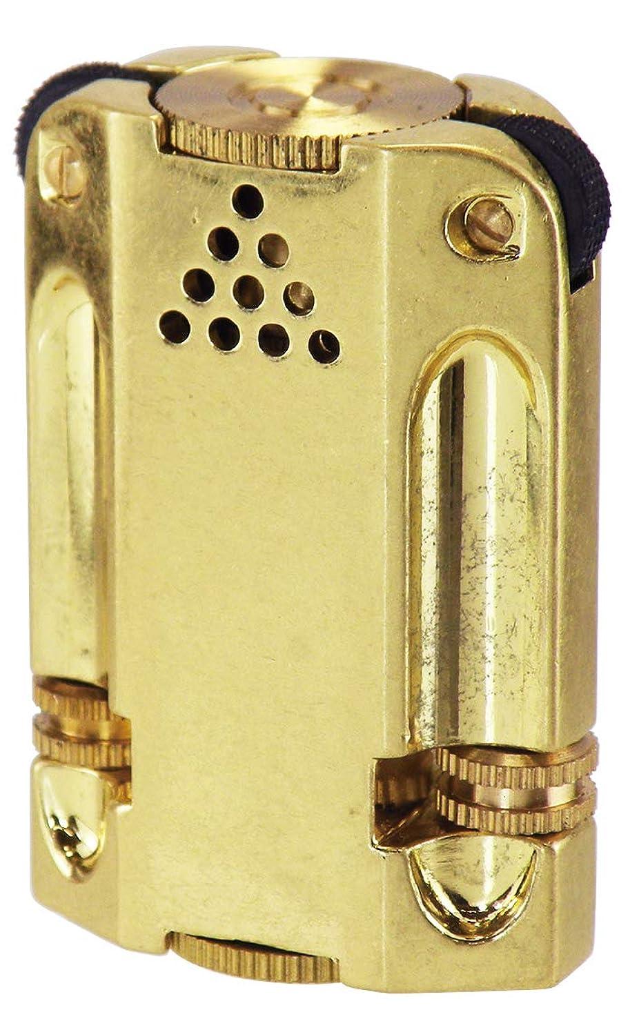 歩道歩くオークションペンギンライター ライター アレックス3 卓上用 バレル仕上げ ブラス