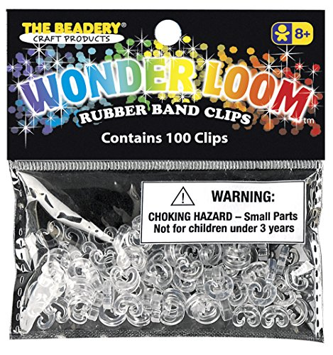 The Beadery 7307 100 C Clips, Crystal
