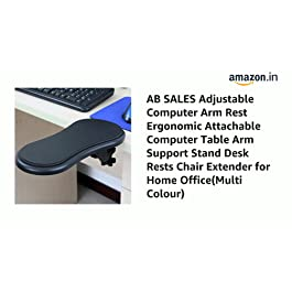 AB SALES Adjustable Computer Arm Rest Ergonomic Attachable Computer Table Arm Support Stand Desk Rests Chair Extender for Home Office(Multi Colour)