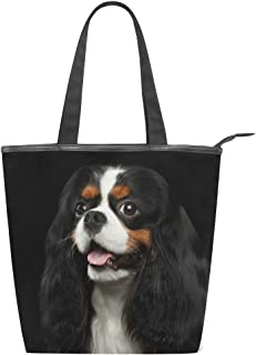 alaza Tote Canvas Schultertasche Cavalier King Charles Spaniel Hund Handtasche