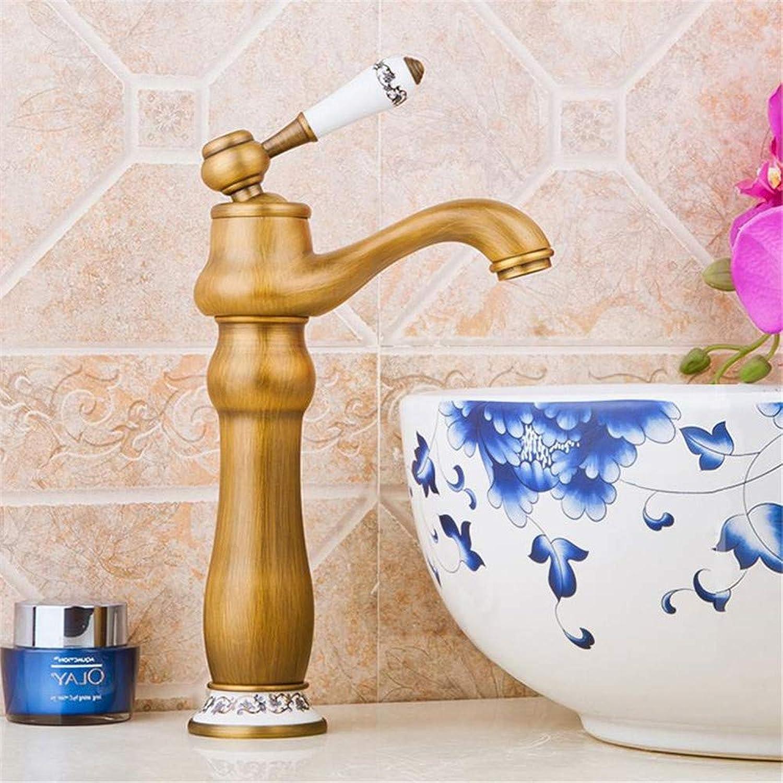 Wasserhahn Küche Waschbecken Badezimmer Antike Messing Badezimmer Waschbecken Wasserhahn Retro Porzellan Griff Mixer Wasserhahn Keramik Dekoration