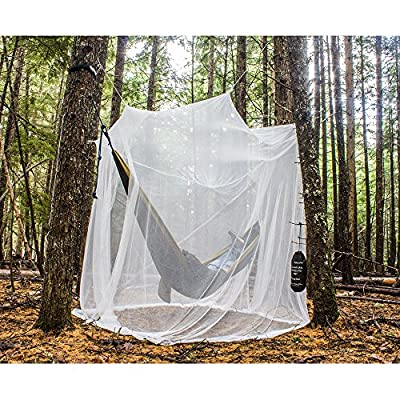 MEKKAPRO Ultra Large Mosquito Net with Carry Bag, Large 2 Openings Netting Curtains | Camping, Bedding, Patio | Carrying Pouch and Hanging Kit from MEKKAPRO