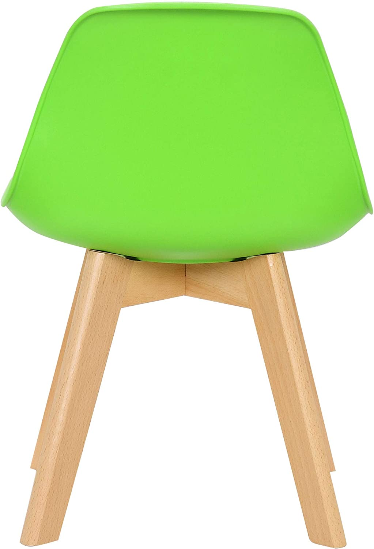CLP Butaca De Sal/ón Infantil Lindi En Polipropileno I Silla De Dormitorio para Ni/ños con Base De Madera I Color: Color:Amarillo