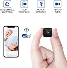 FREDI Hidden Spy Camera, 1080P HD Mini Wireless WiFi Small Nanny Cam with Night Vision, Motion Detection, Loop Recording, Flexible Magnetic Bracket for Home and Office - Work with iOS Android PC