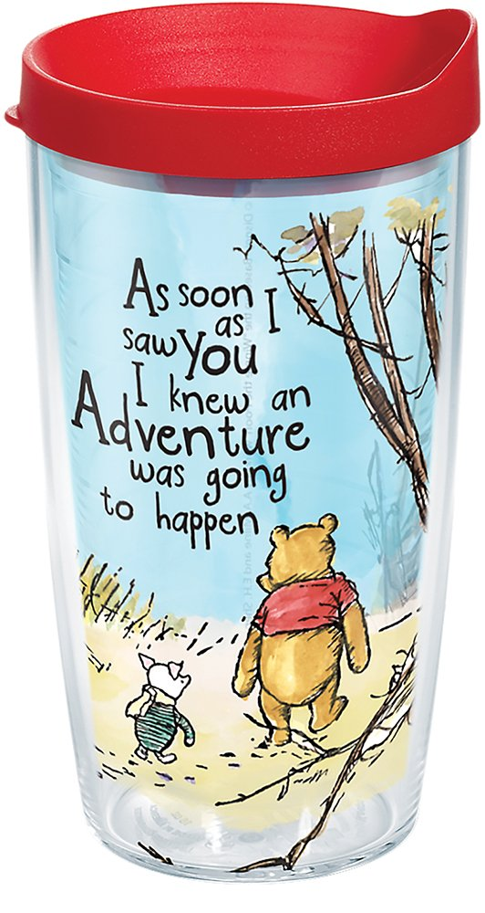 Tervis Disney-Winnie The Pooh Adventure Insulated Travel Tumbler & Lid, 16 oz, Clear
