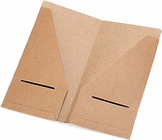 Kraft File Folder - Brown Card Holder Refill Pack For Traveler's Notebook 8.25