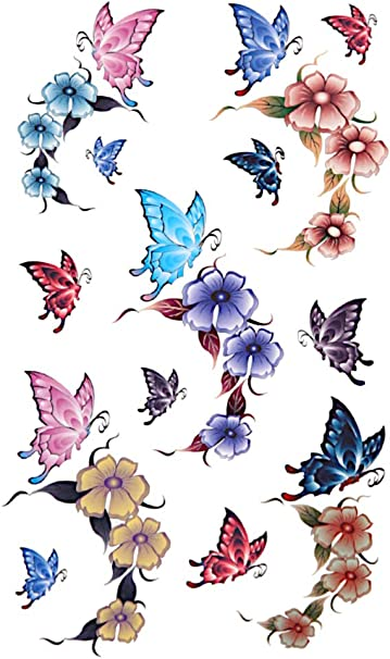 Motive blumen sterne schmetterlinge tattoo Blumen