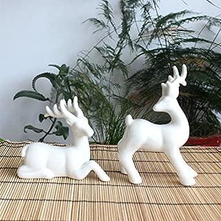 Best white ceramic deer figurines Reviews