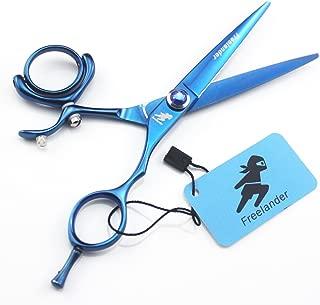Freelander 5.5/6.0 inch Professional Blue Barber Hair Cutting Scissors Salon Swivel Thumb Shears - for Hairdresser (5.5 inch)