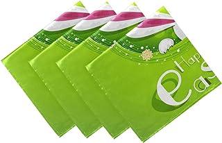 CaTaKu Lot de 4 serviettes de table mignonnes Benny - Serviettes de table lavables et réutilisables - Décoration de cuisin...
