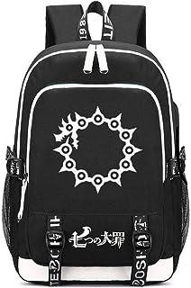 Siawasey Anime The Seven Deadly Sins Cosplay Backpack Daypack Bookbag Shoulder Bag Laptop School Bag with USB Charging Port