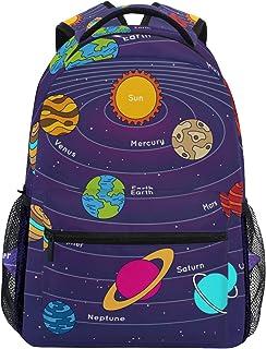 Sistema Solar Galaxia Mochila Escolar Impermeable Mochilas Escolares para Estudiante Adolescentes Niñas Niños