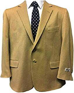 Big and Tall Camel Hair Super Soft Elegant Sport Coat to Size 60