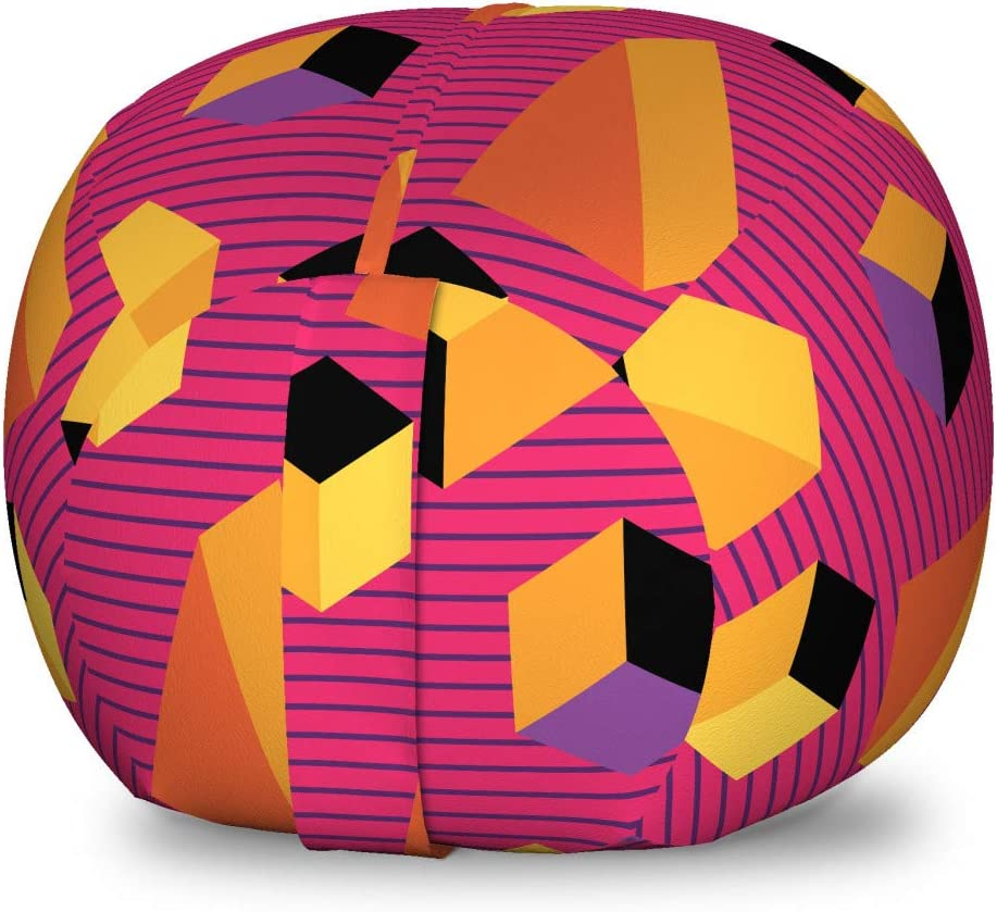 Ambesonne Abstract Storage sold out Toy Bag Rhythmic Max 85% OFF Chair 80's Ge Style