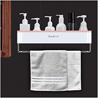 Antirouille Salle de bains douche étagère murale de rangement Organisateur rack étagères Pas de Dilling avec une serviette...