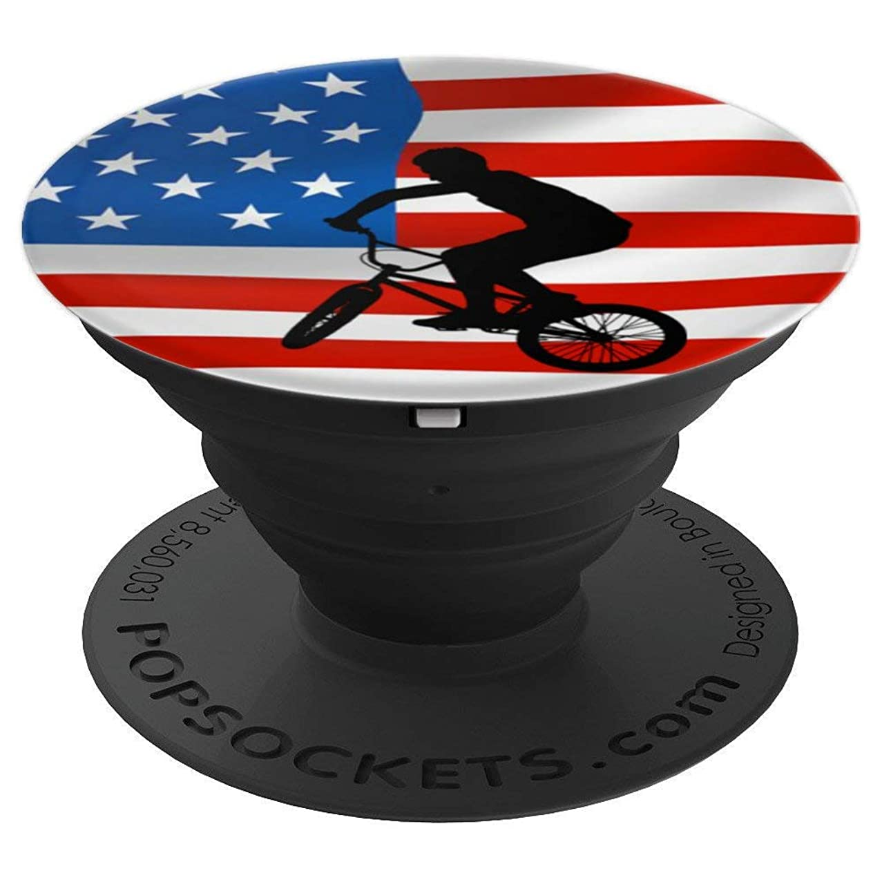 BMX Gift Vintage Style American Retro Shirt USA BMX Rider - PopSockets Grip and Stand for Phones and Tablets