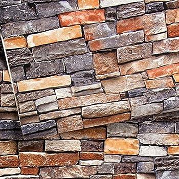 10M Stone Rock Wallpaper Background Modern PVC Retro Sticker Self-adhesive Deco