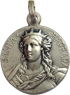 """Medaglietta"""" Santa Barbara"""" In Argento Massiccio 925"""
