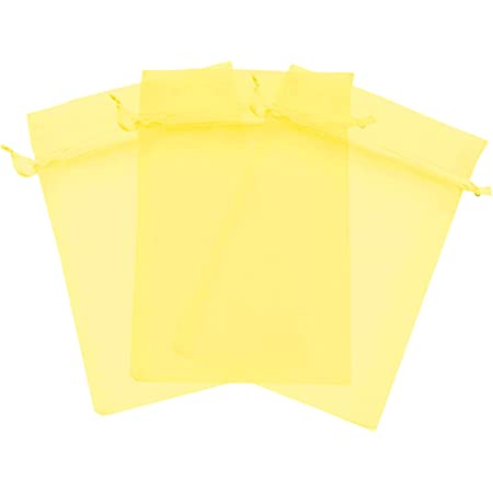 Party Gift Bag Yellow Sheer Favor Bags 50 Yellow 5X7 Organza Bags Wedding Favor Bag Yellow Wedding Favor Sheer Drawstring Jewelry Pouch