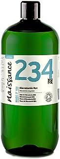 Naissance Nuez de Macadamia BIO - Aceite Vegetal Prensado en Frío 100% Puro - Certificado Ecológico - 1 Litro